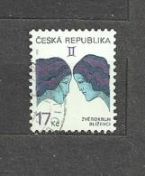 Czech Republic  Tschechische Republik  2002 Gest. Mi  329 Sc 3073 Zodiac – Gemini. C.3 - Czech Republic