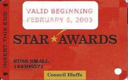 Ameristar Casino Council Bluffs, IA - Slot Card - Copyright 2002 - Valid Beginning Feb 6, 2003 - Casino Cards