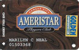 Ameristar Casino Kansas City, MO - Slot Card - Copyright 2001 - Rev Text 17mm - Senior Sticker - Casino Cards