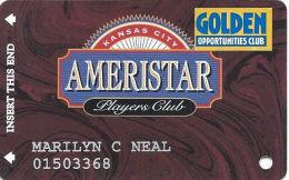 Ameristar Casino Kansas City, MO - Slot Card - Copyright 2001 - Rev Text 14mm - Senior Sticker - Casino Cards