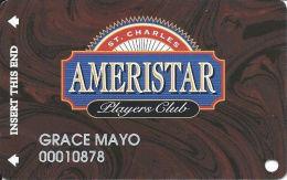 Ameristar Casino St. Charles, MO - Slot Card - Copyright 2001 - Rev Text 15mm - Casino Cards