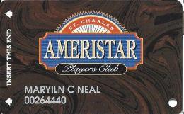 Ameristar Casino St. Charles, MO - Slot Card - Copyright 2001 - Rev Text 17mm - Casino Cards