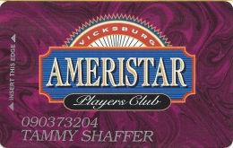 Ameristar Casino Vicksburg, MS - 2nd Issue Slot Card - Faraday Over Mag Stripe - Casino Cards