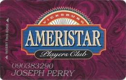 Ameristar Casino Vicksburg, MS - 3rd Issue Slot Card - Cameo Over Mag Stripe - Casino Cards