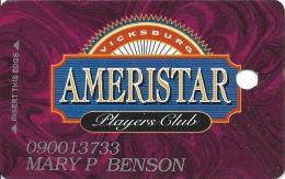 Ameristar Casino Vicksburg, MS - 4th Issue Slot Card - DLR CP Over Mag Stripe - Casino Cards