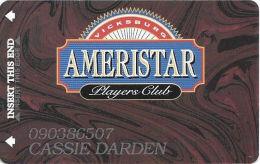 Ameristar Casino Vicksburg, MS - Slot Card - Copyright 2001 - Casino Cards