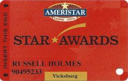 Ameristar Casino Vicksburg, MS - Slot Card - Copyright 2002 - Casino Cards