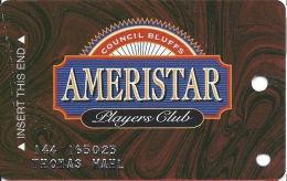 Ameristar Casino Council Bluffs, IA - 1st Issue Slot Card - Faraday Over Mag Stripe - Casino Cards