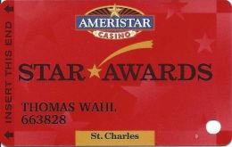 Ameristar Casino St. Charles, MO - Slot Card - Copyright 2005 - Casino Cards