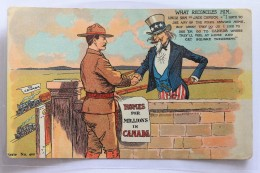 Homes For Millions In Canada, Immigration, Uncle Sam, Jack Canuck, 1900-1910s - People