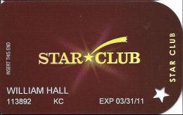Ameristar Casinos Slot Card Multiple Locations - No Logo On Reverse - Casino Cards