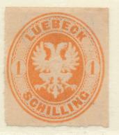 LUBECK - 1863 - Mi 9B - COAT OF ARMS - Lubeck