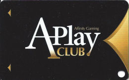 Affinity Gaming APlay Club Slot Card - Casinos In 3 States Listed On Back (BLANK) - Casino Cards