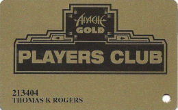 Apache Gold Casino San Carlos, AZ Slot Card - ACC Over Mag Stripe - Casino Cards