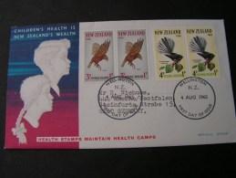 == NZ Birds FDC 1965 Health - FDC