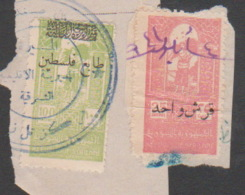 Syria,Syrie,Palestine,Revenue #1946/57, 2 Stamps Of (Fiscal- Fiscaux), Cancelled. - Syrie