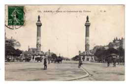 Cpa Paris (75) Place Et Colonne Du Trone (attelage ,animation) - Cpa75 - 1908 - Arrondissement: 12
