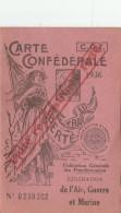 CARTE CONFEDERALE CGT 1936 FEDERATION DE L AIR GUERRE ET MARINE TOULOUSE                      TDA109 - Organizations