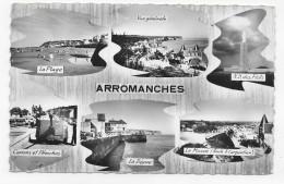ARROMANCHES - MULTIVUES  AVEC CANONS - CARTE FORMAT CPA NON VOYAGEE - Arromanches