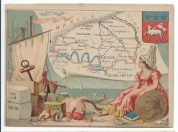 Départements De France/Image Pédagogique/SEINE INFERIEURE/Seine Maritime / Rouen /Vers 1880-1890   CRD76 - Autres