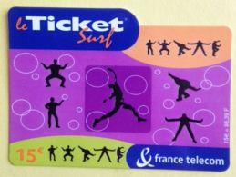 TICKET SURF FRANCE TELECOM - NON GRATTE - 2002 - 2 SCANS - Frankreich