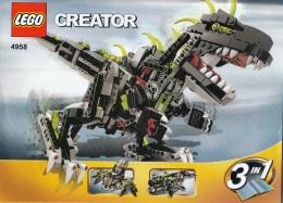 Lego 4958 Creator Dinousaure Avec Plan 100 % Complet - Lego System