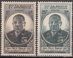 Nouvelle-Calédonie 1945 Yvert 257 - 258 Neuf ** Cote (2015) 3.40 Euro Gouverneur-général Félix Eboué - New Caledonia