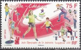 Nouvelle-Calédonie 2010 Yvert 1104 Neuf ** Cote (2015) 2.00 Euro Jeux Olympiques De La Jeunesse Singapore Athlétisme - Unused Stamps