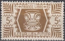 Wallis & Futuna 1944 Yvert 133 Neuf ** Cote (2015) 0.25 Euro Art Indigène - Wallis-Et-Futuna