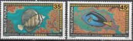 Wallis & Futuna 1993 Yvert 451 - 452 Neuf ** Cote (2015) 4.80 Euro Poissons - Wallis-Et-Futuna