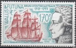 Wallis & Futuna 1993 Yvert 453 Neuf ** Cote (2015) 5.25 Euro Amiral Bruni D'Entrecasteaux Voilier - Neufs