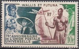 Wallis & Futuna 1949 Yvert Poste Aérienne 11 Neuf ** Cote (2015) 10.00 Euro 75 Ans UPU - Neufs