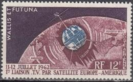 Wallis & Futuna 1962 Yvert Poste Aérienne 20 Neuf ** Cote (2015) 4.30 Euro Télécommunications Spatiales - Neufs