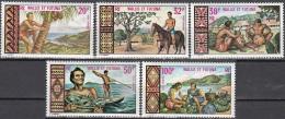 Wallis & Futuna 1969 Yvert Poste Aérienne 33 - 37 Neuf ** Cote (2015) 45.80 Euro Aspects Des Iles - Poste Aérienne