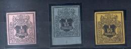 HANNOVER 1851 MI.3/5 * ORIGINALGUMMI MIT LICHT FALZREST - ALLES SIGNIERT - Hannover