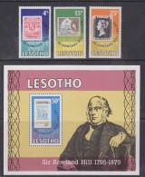 Lesotho 1979 Sir Rowland Hill 3v + M/s ** Mnh (29960) - Lesotho (1966-...)