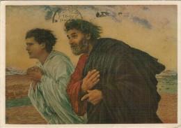 LOUVRE  PARIS    I DISCEPOLI PIETRO E GIOVANNI CORRONO AL SEPOLCRO -- E. BURNAND     (NUOVA) - Museum