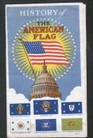 HISTORY OF THE AMERICAN FLAG, DEPLIANT, 3 SCANS - Dépliants Touristiques