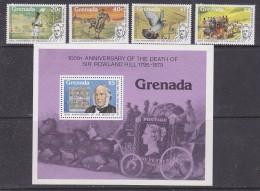 Grenada 1979 Sir Rowland Hill 4v + M/s ** Mnh (29965) - Grenada (1974-...)
