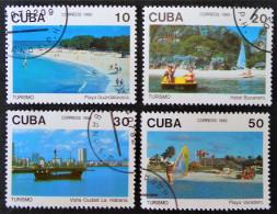 TOURISME A CUBA 1992 - OBLITERES - YT 3214/17 - MI 3593/96 - Used Stamps