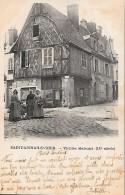 CARTE POSTALE ORIGINALE ANCIENNE : SAINT AIGNAN SUR CHER ; VIEILLES MAISONS ; ANIMEE ; LOIR ET CHER (41) - Saint Aignan