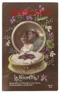 CPA N° 815 - La Houpette ! - Un Soldat Et Sa Belle + Texte En 1920  - Scans Recto-Verso - Edit. REX - Personnages