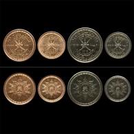 OMAN 5, 10, 25, 50 Baisa 2015 UNC , SET OF 4 COINS, NATIONAL DAY - Oman