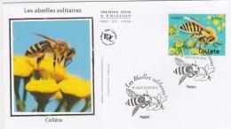 FDC 2016 - Les Abeilles Solitaires  -  1er Jour Le 20.05.2016 à 75 Paris (timbre De Bloc) - FDC