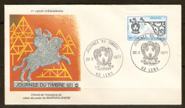 FRANCE FDC 1er JOUR LENS 26/3/1977 JOURNÉE DU TIMBRE MARCKOLSHEIM - Y & T N° 1927 - FDC