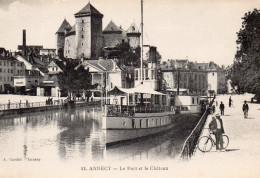 1549. CPA 74 ANNECY. LE PORT ET LE CHATEAU - Annecy