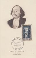 Carte  Maximum  1er  Jour   FRANCE   Gustave   FLAUBERT     ROUEN    1952 - 1950-59
