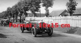 Reproduction D'une Photographie D'une Bentley Aux 24 Heures Du Mans De 1929 - Reproductions