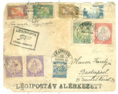 1925 Hungary Airmail Legiposta Szeged-Budapest ** Front Only** Multi Stamp, A/f