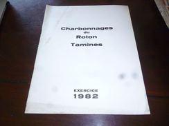 CB1LC157  Charbonnages Du Roton Tamines Rapport De L'exervice 1982 - Farciennes Et Oignies Aiseau - Livres, BD, Revues
